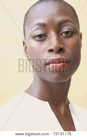 Close up of African American woman