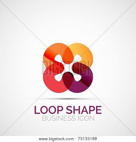 Abstract geometric symmetric business icon, logo