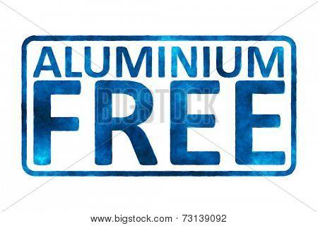 An image of an Aluminium free sign