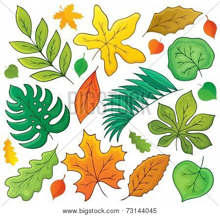 Leaves theme collection 1 - eps10 vector illustration.