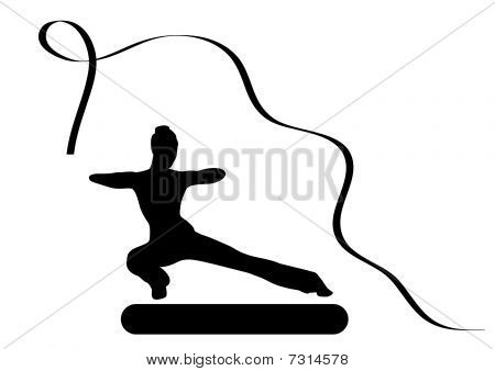 Illustration of a girl doing gymnastic