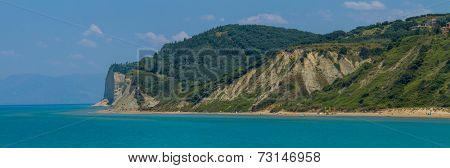 The agios Stephonos beach in COrfu Greece