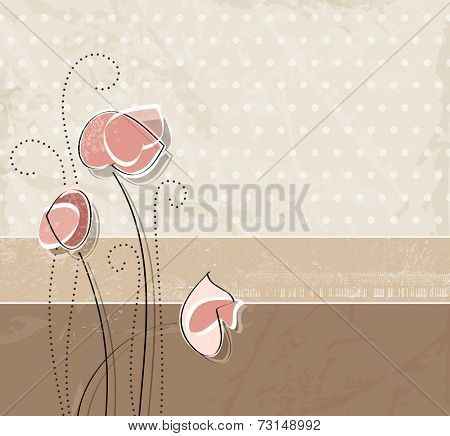 Soft floral background - vintage style
