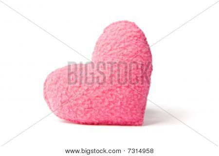 Pink Fleece Heart