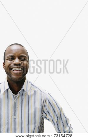 Portrait of African man laughing