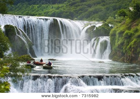 Kostelski buk on Una river in Bosnia