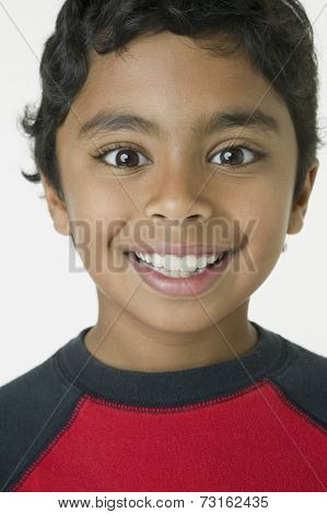 Close up of Indian boy smiling