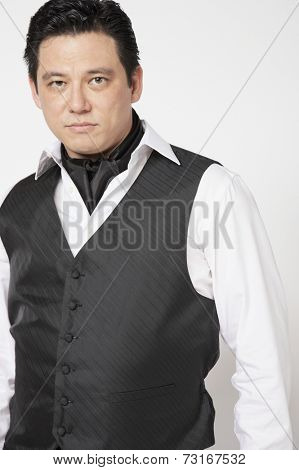 Asian man in tango outfit
