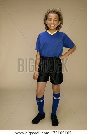 African American girl with hand on hip