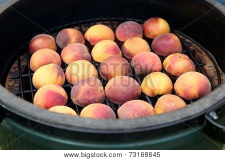 Peaches on the grill, summer cooking