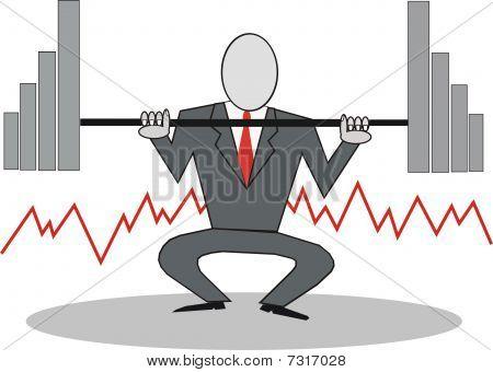 Powerful businessman cartoon