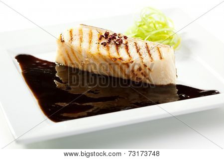 Grilled Seabass with Balsamic Sauce