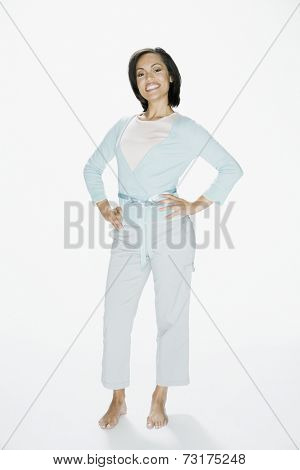 African American woman with hands on hips
