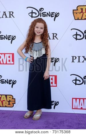 LOS ANGELES - OCT 1:  Francesca Capaldi at the VIP Disney Halloween Event at Disney Consumer Product Pop Up Store on October 1, 2014 in Glendale, CA