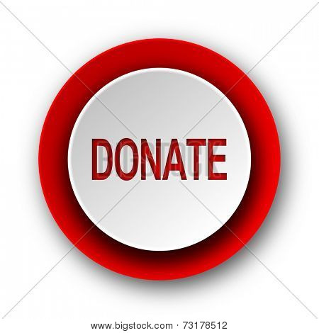 donate red modern web icon on white background