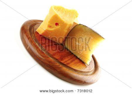 Soft Delicatessen Chesses On Wood