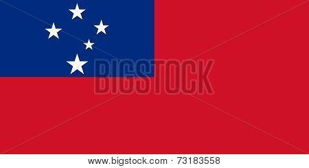 National flag of Samoa - Authentic version
