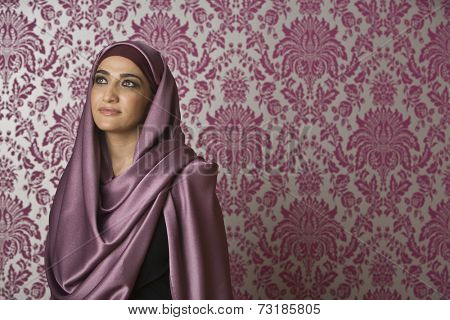 Middle Eastern woman wearing head scarf