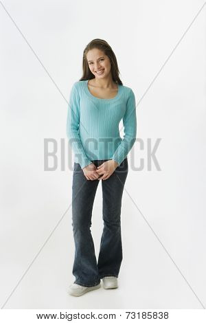 Portrait of Hispanic teenaged girl