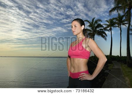 Pacific Islander woman with hands on hips