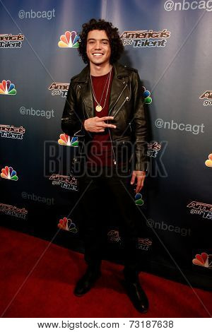 NEW YORK-SEP 17: Singer Miguel Dakota attends the post-show red carpet of America's Got Talent: The Finale Season 9 at Radio City Music Hall on September 17, 2014 in New York City.