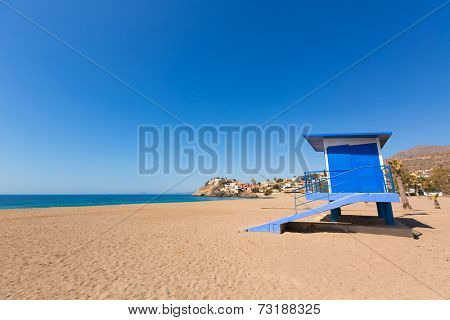 Bolnuevo beach in Mazarron Murcia at Mediterranean spain sea