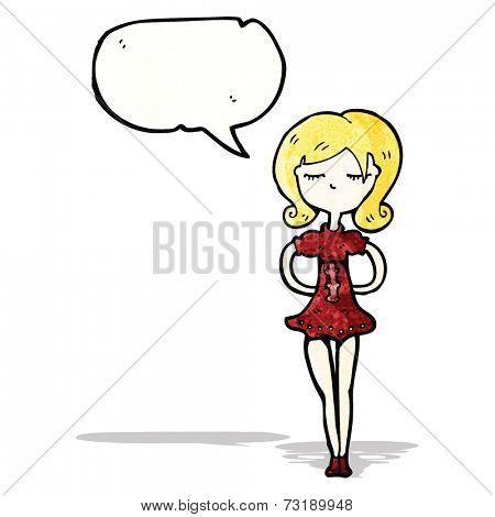 cartoon skinny girl