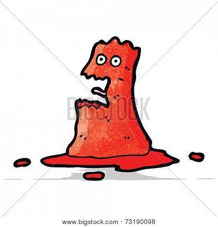 cartoon slime monster