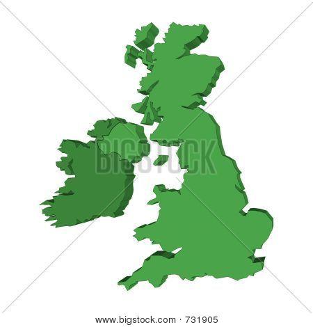 Mapa do Reino Unido e Irlanda