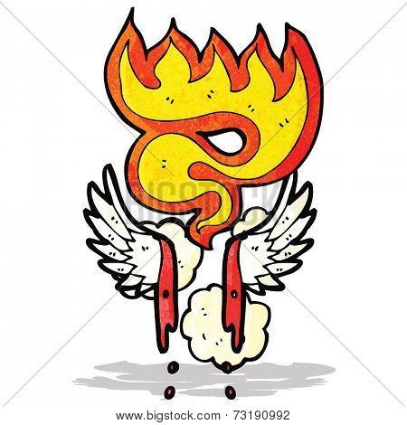 cartoon bloody wings symbol