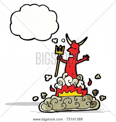 cartoon devil appearing