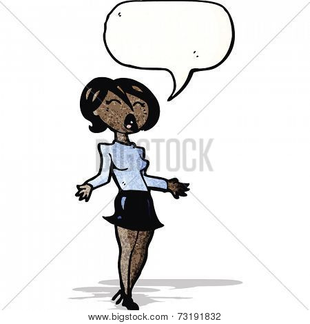 cartoon woman in short skirt