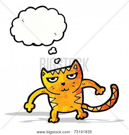 cartoon cat ready for fight