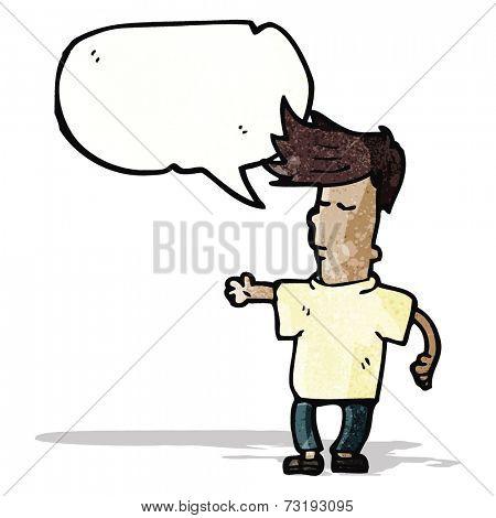 cartoon talking cool guy