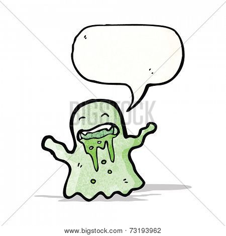 cartoon slimy ghost