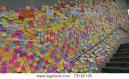 HONG KONG, Oct 2, 2014 : Umbrella Revolution in Admiralty, Hong Kong