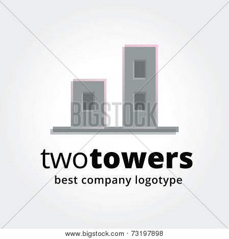 Abstract vector estate logotype concep with house isolated on white background. Key ideas is business, abstract, estate, house, home. Concept for corporate identity and branding
