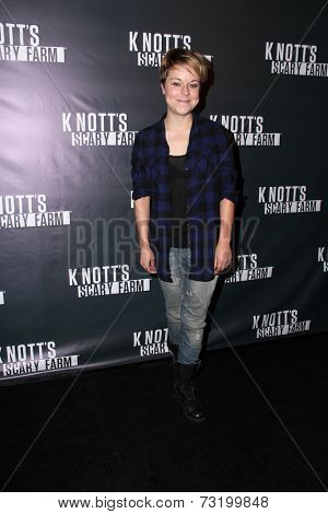 LOS ANGELES - OCT 3:  Tina Majorino at the Knott's Scary Farm Celebrity VIP Opening  at Knott's Berry Farm on October 3, 2014 in Buena Park, CA