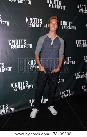 LOS ANGELES - OCT 3:  Austin North at the Knott's Scary Farm Celebrity VIP Opening  at Knott's Berry Farm on October 3, 2014 in Buena Park, CA