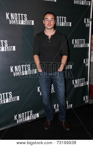 LOS ANGELES - OCT 3:  Brando Eaton at the Knott's Scary Farm Celebrity VIP Opening  at Knott's Berry Farm on October 3, 2014 in Buena Park, CA