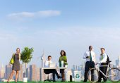 picture of environmentally friendly  - Environmental friendly office workers in New York - JPG