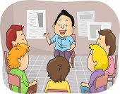 picture of counseling  - Illustration Featuring a Group of Men in a Counseling Session - JPG