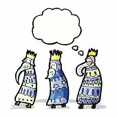 stock photo of three kings  - three kings cartoon - JPG
