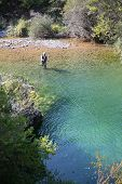 foto of fly rod  - Upper view of fly fisherman fly - JPG