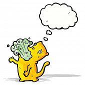 pic of belching  - burping cat cartoon - JPG