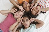 stock photo of mischief  - Young girls being silly - JPG