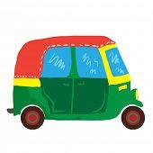 stock photo of going out business sale  - cute mini van cartoon illustration - JPG