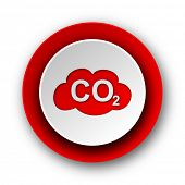 pic of carbon-dioxide  - carbon dioxide red modern web icon on white background - JPG