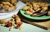 image of nutcracker  - Peanuts and nutcracker on plate - JPG