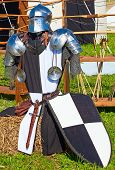 picture of reconstruction  - Knight armor on display during tournament reconstruction - JPG